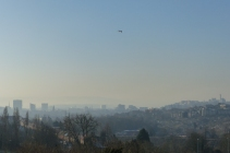 Frosty skyline of Bristol, taken from the Mound. I can see my house from here!